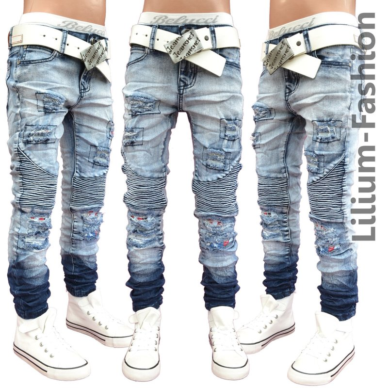 a1806 blau jeans hose junge kinderjeans skinny bikerjeans. Black Bedroom Furniture Sets. Home Design Ideas