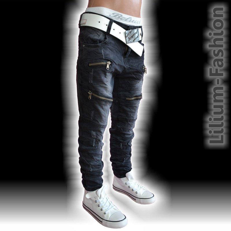 27206fb01779 FC 011 Jeans Hose Junge Kinder SLIM FIT Skinny BIKERJEANS