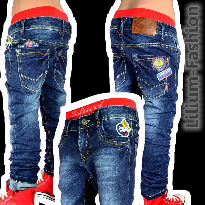 H1372 Coole Jeans Hose Junge Kinder STRETCH CHILONG. 3e3571914a