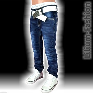 H1425 Coole Jeans Hose Junge Kinder SLIM-FIT SKINNY STRETCH S&Q 122-176 neu