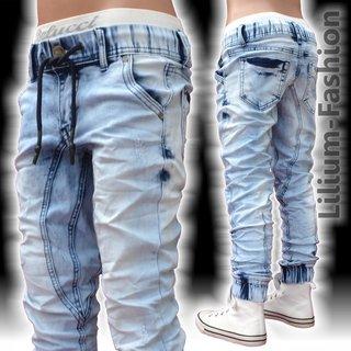 A1802 Coole Jogg-Jeans Hose BIKER STYLE Junge Kinder STRETCH 5c379d5c6a