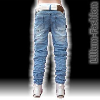 1f905055d8a7 A1801 Blau Jeans Junge Kinderjeans Skinny Bikerjeans Stretch, 19,99