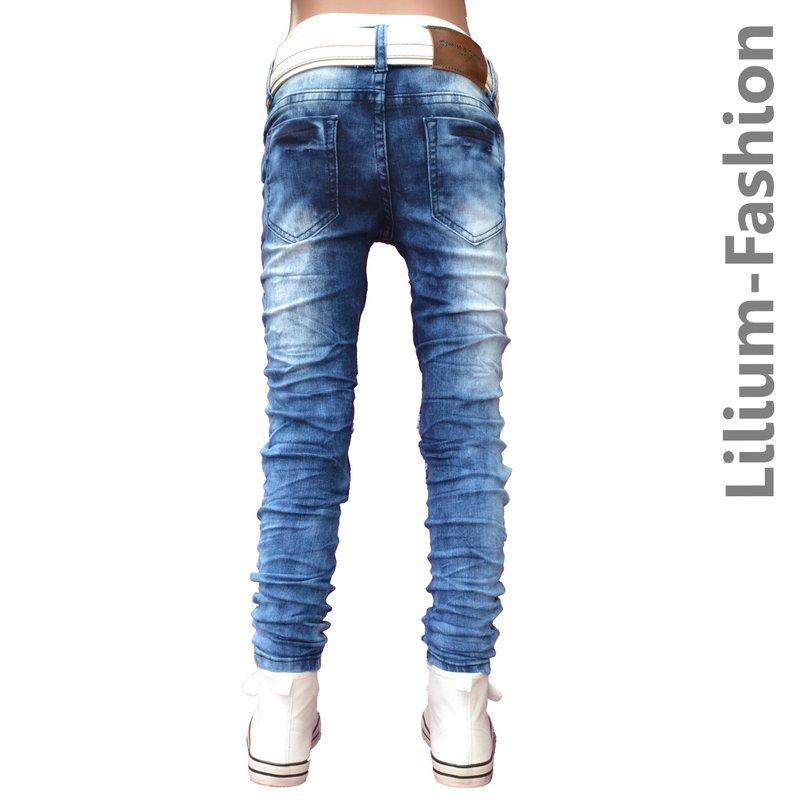 30lf16 2 blau jeans junge kinderjeans skinny bikerjeans. Black Bedroom Furniture Sets. Home Design Ideas
