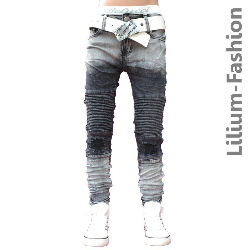 30lf07 grau jeans junge kinderjeans skinny bikerjeans. Black Bedroom Furniture Sets. Home Design Ideas