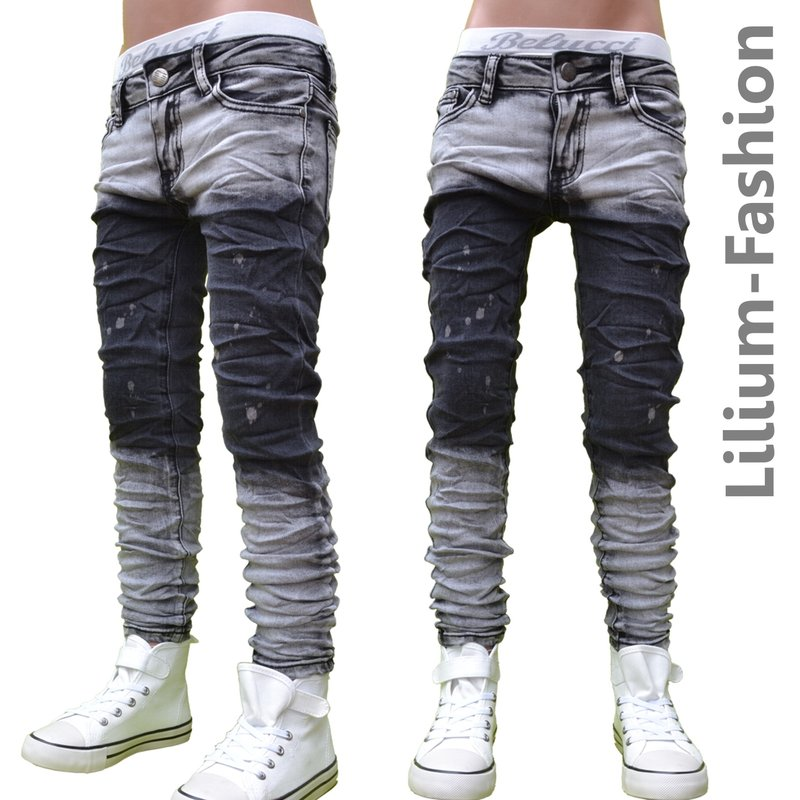 30lf09 grau jeans hose junge kinderjeans cargo bikerjeans skinny stre. Black Bedroom Furniture Sets. Home Design Ideas