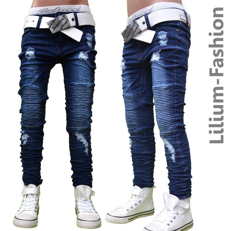 30lf06 blau jeans hose junge kinderjeans cargo bikerjeans. Black Bedroom Furniture Sets. Home Design Ideas