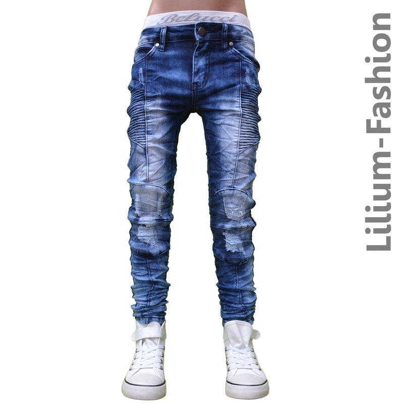 30lf17 1 blau jeans junge kinderjeans skinny bikerjeans. Black Bedroom Furniture Sets. Home Design Ideas
