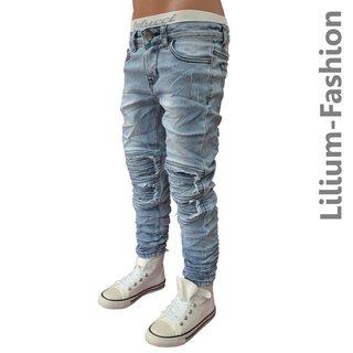 8d37478b3afe A1803 Blau Jeans Junge Kinderjeans Skinny Bikerjeans Stretch, 24,99