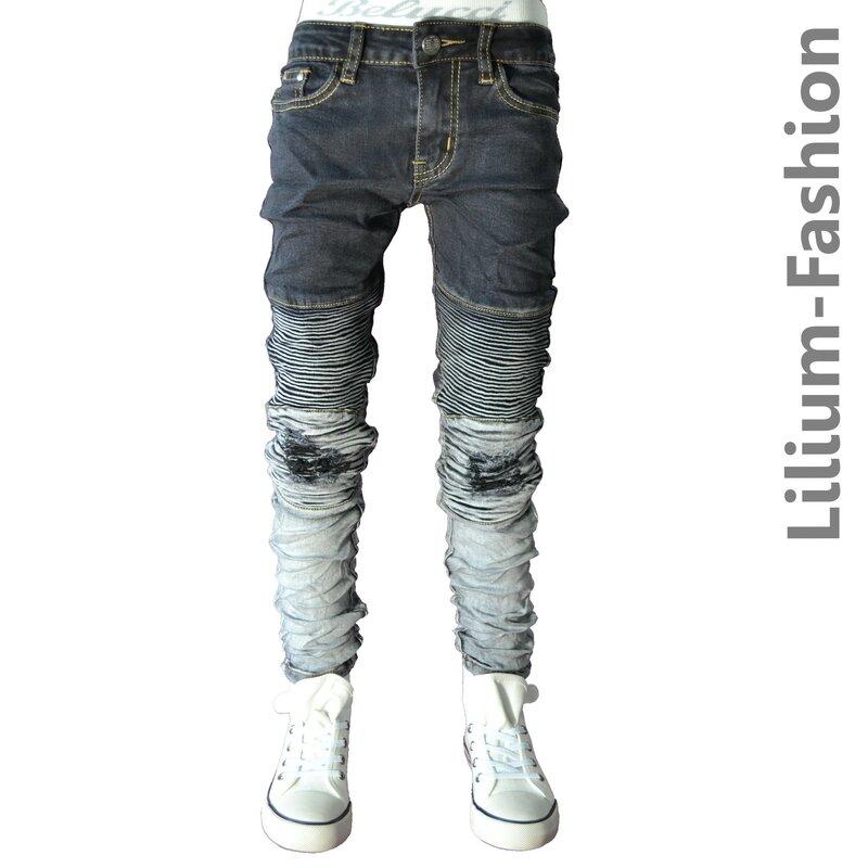 30lf19 grau jeans hose junge kinderjeans cargo bikerjeans. Black Bedroom Furniture Sets. Home Design Ideas