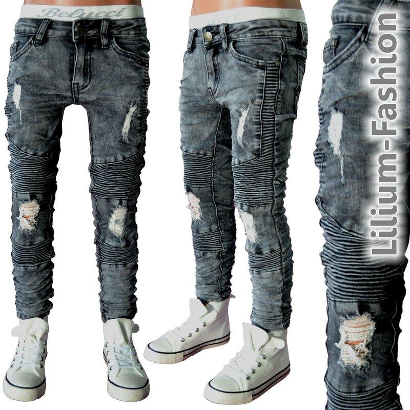 30lf22 grau jeans hose junge kinderjeans cargo bikerjeans. Black Bedroom Furniture Sets. Home Design Ideas