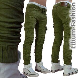 b2d69a780607 30LF25 Khaki Jeans Hose Junge Kinderjeans Cargo-Biker-Jogg-Jeans Skinny  Stretch ...