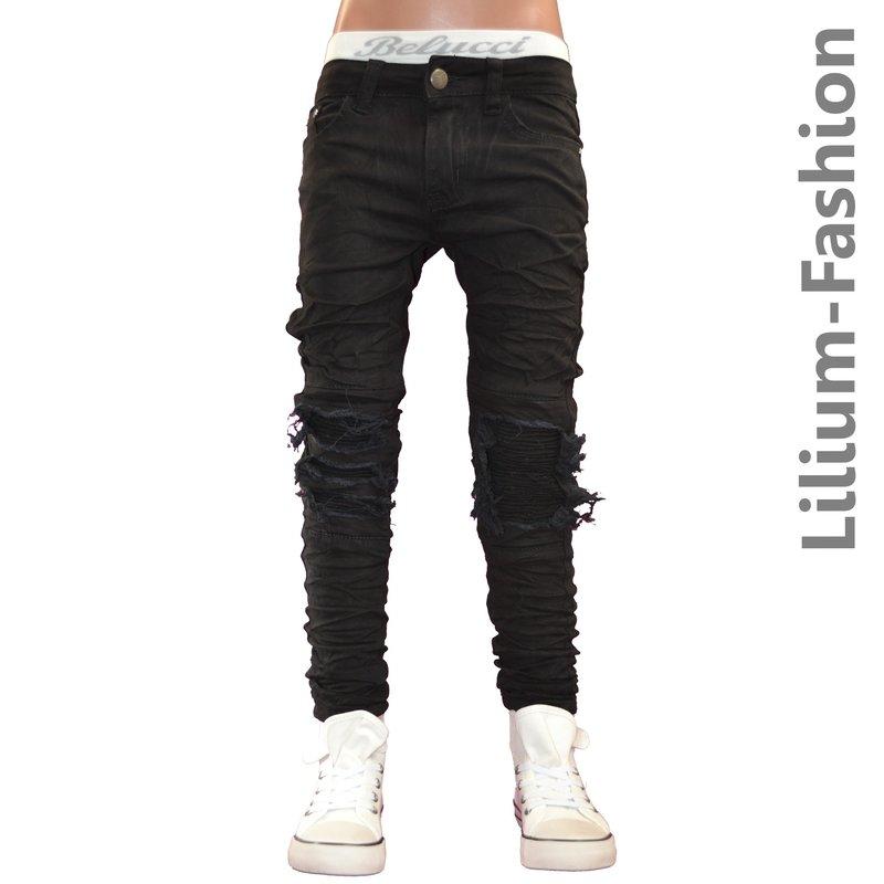 30lf26 schwarz jeans junge kinderjeans skinny bikerjeans. Black Bedroom Furniture Sets. Home Design Ideas