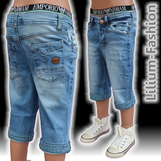 NM-8002-1-blau Kurze Hose Jeans-Short Freizeit Sport Junge Kinder NM KIDS