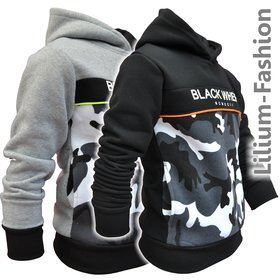 P-98 SQUARED&CUBED Jungen Kapuzenpullover Hoodie Army...
