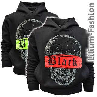 P-99 SQUARED&CUBED Jungen Kapuzenpullover Hoodie Sweatshirt Iced-Out Neon langarm